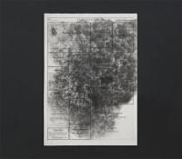 Lápiz y polvo de grafito/ Esquela